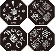 Недорогие -1шт новый ноготь штамповки изображения плиты тропического суки цветок пластина для DIY ногтей искусство украшения (ассорти шаблон)
