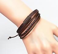 Муж. Браслет Кожаные браслеты Уникальный дизайн Мода европейский бижутерия Кожа Бижутерия Бижутерия Назначение Новогодние подарки