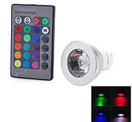 Marsing gu10 controle remoto 16 cores 4 modos rgb 3w 200lm led bulb- (90-260v)