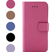 For iPhone 6 Case / iPhone 6 Plus Case with Stand / Flip Case Full Body Case Solid Color Hard PU LeatheriPhone 6s Plus/6 Plus / iPhone
