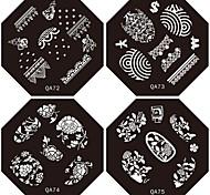Недорогие -1шт Новый дизайн ногтей штамповка изображения плиты Милые Мода цветок пластина для поделок украшениями ногтей (ассорти Pattern)