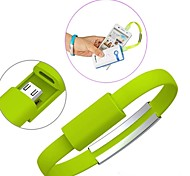 Недорогие -Портативный наручные браслет зарядки микро кабель USB данных для Samsung S3 / S4 / HTC Sony и другие (ассорти цветов)