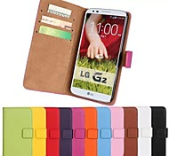 cheap -Case For LG Nexus 5 LG G3 Mini LG G2 LG G3 Other LG LG K10 LG K7 LG G5 LG G4 LG Case Card Holder Wallet with Stand Flip Full Body Cases