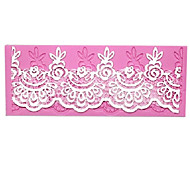 Lace Baking Fondant Cake Choclate Candy Mold, 17.5x6.7x0.4cm