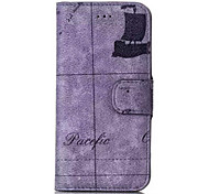 For iPhone 6 Case / iPhone 6 Plus Case Wallet / Card Holder / with Stand / Flip / Pattern Case Full Body Case Scenery Hard PU Leather