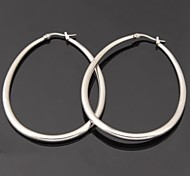 cheap -Women's Hoop Earrings Fashion Stainless Steel Jewelry Wedding Party Daily Casual Sports Costume Jewelry