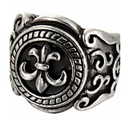 Fashion Carving Titanium Steel Ring Christmas Gifts