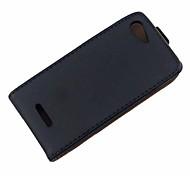 Недорогие -сплошной цвет искусственная кожа всего тела Защитная крышка для Sony Xperia E3 / d2203