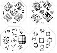 Недорогие -1шт новый ноготь штамповки изображения пластины шикарный кружева цветок любви пластина для DIY ногтей искусство украшения (ассорти шаблон)