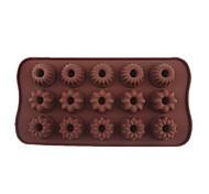 Недорогие -15 отверстий Голлум цветы форма торт лед желе Формы для шоколада, silicone21 × 10,7 × 2 см (8,3 × 4,2 × 0.8inch)