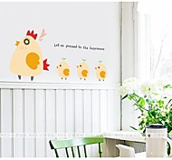 cheap -The Hen And the Chicken Lovely Wall Stickers