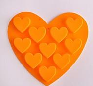 preiswerte -10 Loch Herzform Kuchen Eis Gelee Schokoladenformen, Silikon 15 x 14,5 x 1,5 cm (6,0 x 5,8 x 0,6 Zoll)