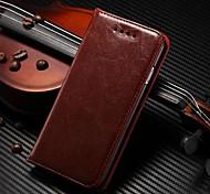 стиль книги магнит близко натуральная кожа Полный чехол тело с подставкой и слот для карт памяти для iPhone 6 (ассорти цветов)