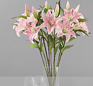 1 Branch Plastic Lilies Tabletop Flower Artificial Flowers 15 x 15 x 70(5.91'' x 5.91'' x 27.56'')