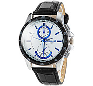 cheap -Men's Quartz Wrist Watch Casual Watch PU Band Charm Dress Watch Black White Brown