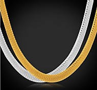cheap -U7®Chunky Chain Necklace 18K Real Gold Plated Stainless Steel Choker Necklace