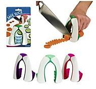 Новый, безопасны инструмент для зашиты рук во время резки овощей, случайный цвет