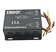 cheap -Xincol® Vehicle Car DC 24V to 12V 15A Power Supply Transformer Converter-Black