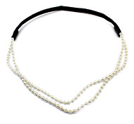 cheap -Women's Elegant Imitation Pearl Headband Flower