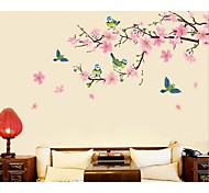 Peach Blossom Birds Wall Stickers