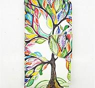 el árbol de la vida patrón pu cuero caso de cuerpo completo con ranura para tarjeta y presentarse a 5c iphone
