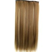 cheap -22 inch Synthetic Hair Hair Extension Straight Classic Clip In/On Daily High Quality Synthetic Women's Women