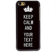 Недорогие -персонализированные кейс черный Keep металлический корпус спокойно дизайн для iPhone 5с
