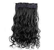cheap -22 inch Synthetic Hair Hair Extension Curly Classic Clip In/On Daily High Quality Women's Women
