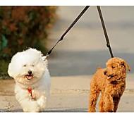 Поводки Двойные поводки для собак Двуспальный комплект Однотонный Нейлон