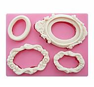 marcos de espejos en forma de herramientas de la torta del arte moldes para velas jabón molde de silicona de azúcar fondant de decoración SM-249