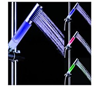 cheap -Batter free Color Changing LED Chrome Finish Hand Shower