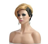 cheap -Synthetic Wig Straight Blonde Women's Capless Natural Wigs Short Synthetic Hair