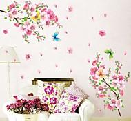 ботанический Романтика Натюрморт Мода Цветы Наклейки Простые наклейки Декоративные наклейки на стены материал Съемная Украшение дома
