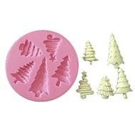 3d помадная силикона для украшения торта прессформы рождественской елки силиконовые формы