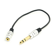 "Stereo Female 1/8"" 3.5mm Jack to Male 1/4"" 6.35mm Headphone Adapter Converter Cable 20cm"