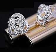cheap -Stud Earrings Rhinestone Alloy Fashion Jewelry Daily 2pcs