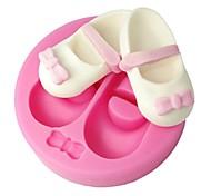 Недорогие -FOUR-C sugarpaste формы девочка обуви кекс украшения формы цвет розовый