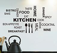 adesivi da parete decalcomanie, cucina parole inglesi&cita adesivi murali in pvc
