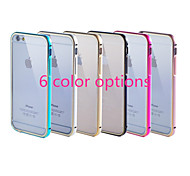 Gold Frame Plus Transparent Acrylic Cover Version of The Phone Shell Pull Applicable Iphone6 Plus (Assorted Colors)