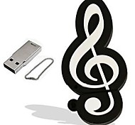desenhos animados modelo de nota musical 1GB USB 2.0 Flash drive