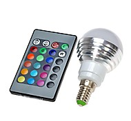 cheap -300 lm E14 LED Globe Bulbs leds Remote-Controlled RGB AC 100-240V