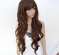 cheap -Fluffy big wave curly hair inclined bang wig