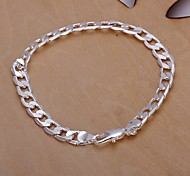 cheap -Men's Chain Bracelet Unique Design Fashion Silver Plated Others Jewelry Wedding Party Daily Casual Costume Jewelry