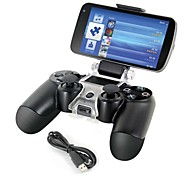 cheap -Smart Phone Mount Bracket Storage Holder + Charging cable for PS4 Controller Gamepad