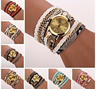 cheap -Women's Quartz Bracelet Watch PU Band Casual / Fashion Black / White / Blue / Red / Pink