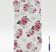 cheap -Case For Nokia Lumia 630 Nokia Nokia Case Card Holder Wallet with Stand Full Body Cases Flower Hard PU Leather for