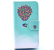 Balloon House Pattern Full Body Case with Stand for iPhone 4/4S