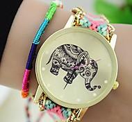 cheap -Women's Bracelet Watch Fashion Watch Quartz Casual Watch Fabric Band Bohemian Multi-Colored
