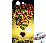 Недорогие -Графический/Мультфильмы/Специальный дизайн - Крышка случая - TPU - Задняя крышка - для Sony Xperia Z3 Mini -