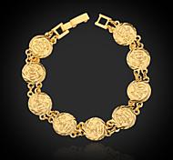 Недорогие -Позолоченный браслет для женщин и мужчин, из золота 18K, 19см